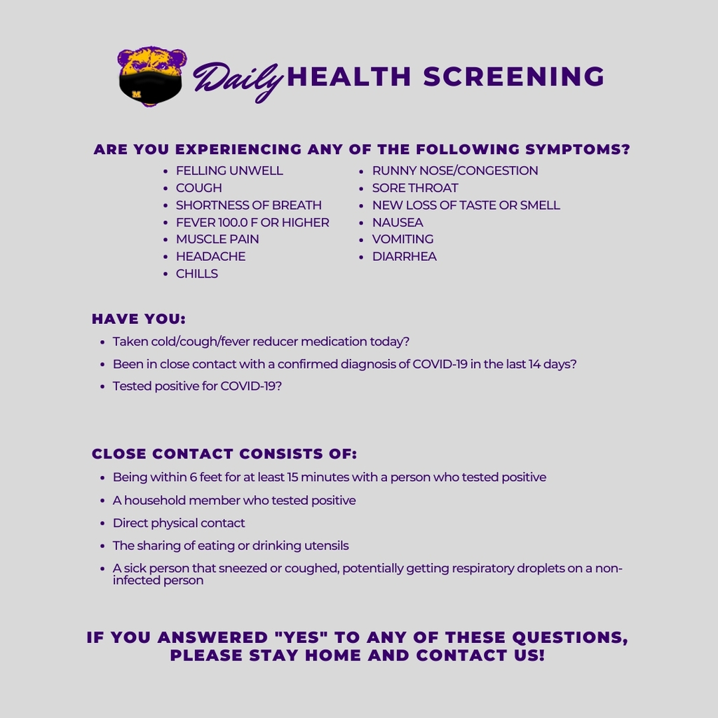 Daily Health Screening