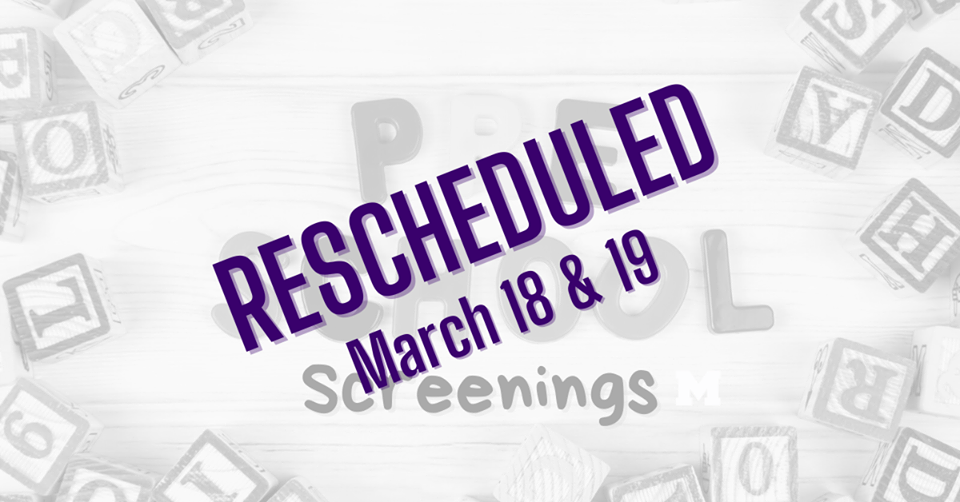 Screenings Rescheduled