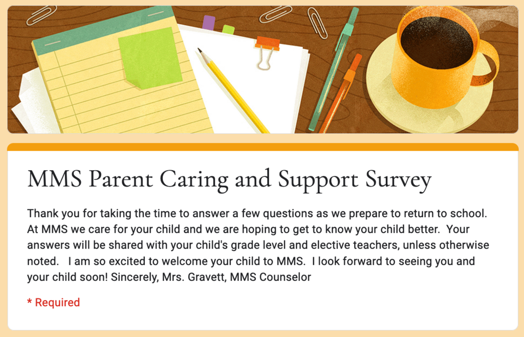 Caring and Support Survey