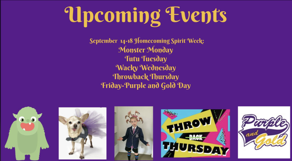 Sept. 14-18: Homecoming Spirt Week!